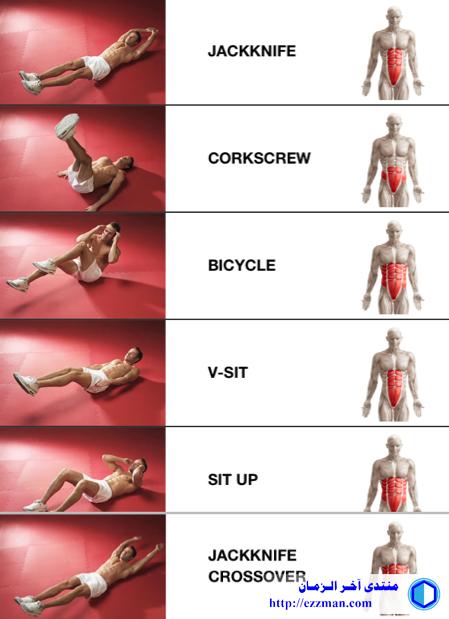 تمارين عضلات البطن [عدة مستويات]