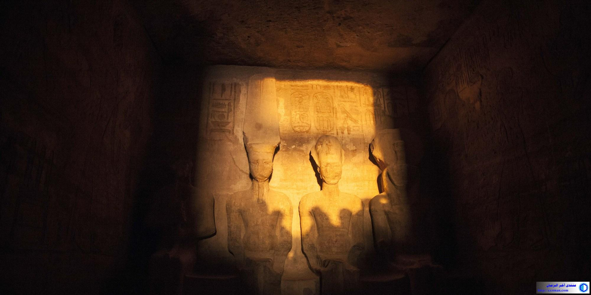 تعامد الشمس تمثال رمسيس الثاني