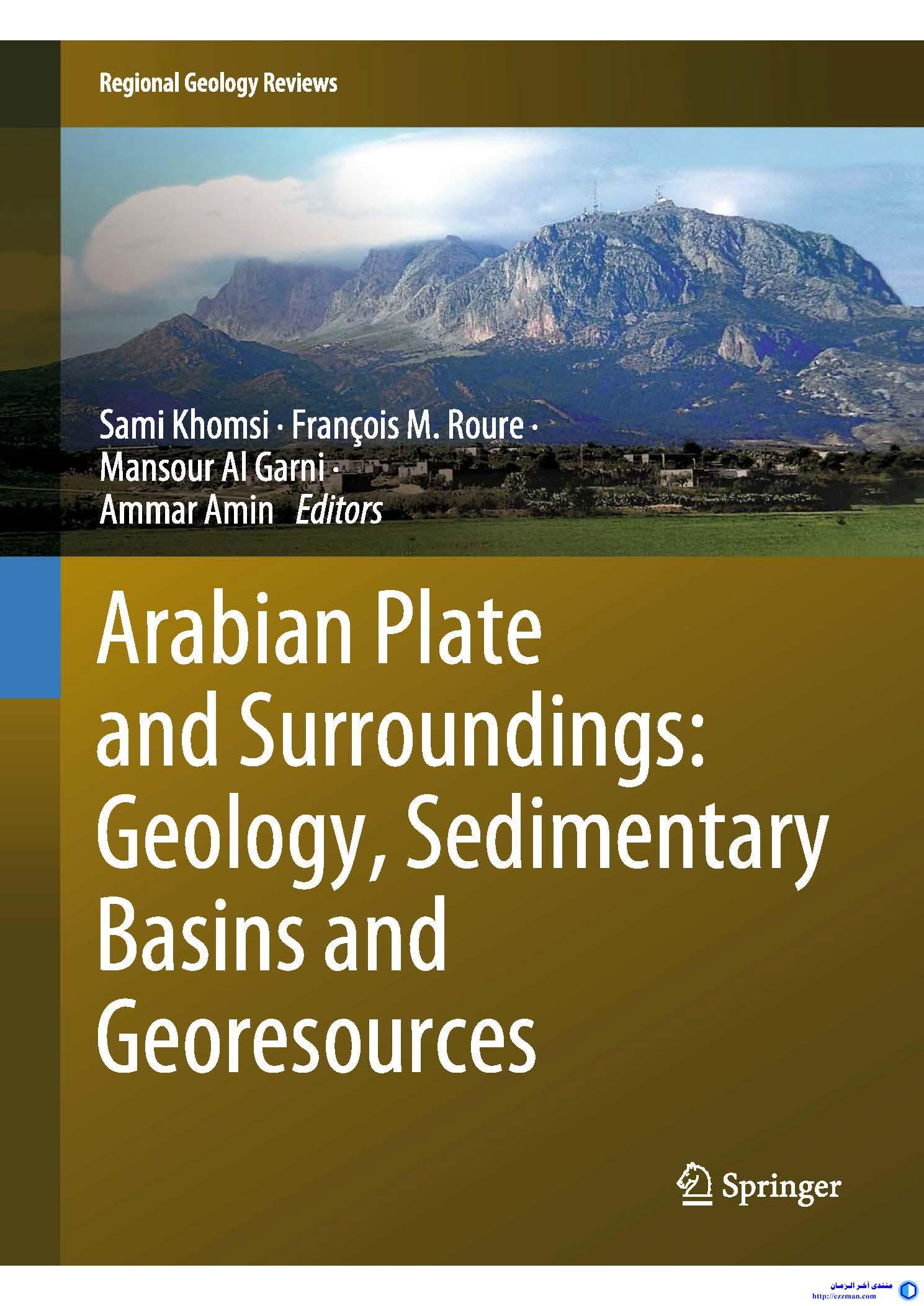 Arabian Plate Surroundings Geology, Sedimentary